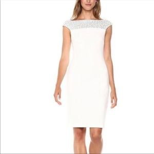 Calvin Klein White Embellished Dress